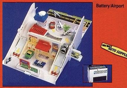 La batterie qui se transforme en Aéroport, l'un de mes premiers Playset Micro Machines à la fin des années 80.
