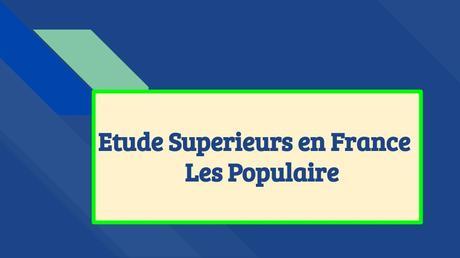 Etudes Supérieurs En France