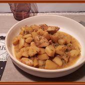 Poulet aux pommes de terre et cheddar - Oh, la gourmande..