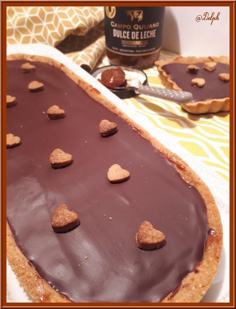 Tarte au dulce de leche et chocolat croquant