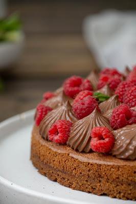 Tarte chocolat et framboises