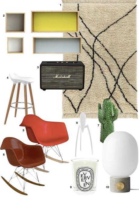 blog déco studio étudiant aménagement astucieux chaise scandinave tapis berbère