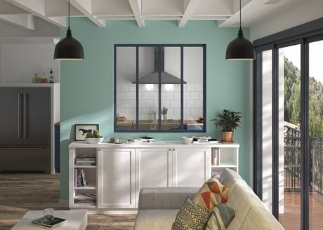 ouvrir salon couloir verrière atelier grise moins de 300 euros pas cher à monter soi-même