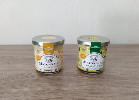 Mayonnaise traditionnelle et mayonnaise à l'huile d'avocat LA TOURANGELLE