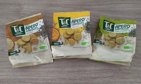 3 sachets de biscuits bio apéritifs Terres et céréales