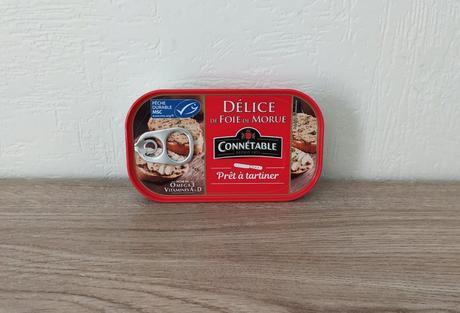 1 boîte de délice de foie de morue Connétable