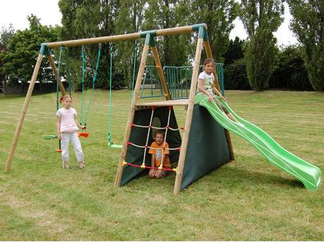 Le jardin parfait pour enfants : toboggan et compagnie !