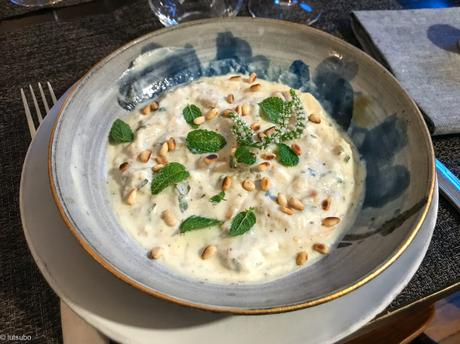 A l'orientale – Salade d'aubergine au yaourt et à la menthe
