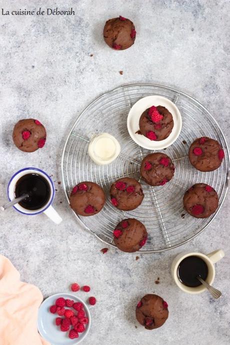 Muffins chocolat et framboises