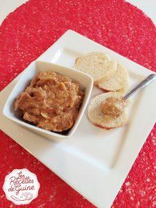 caviar d'aubergine sur toast pour un apéritif