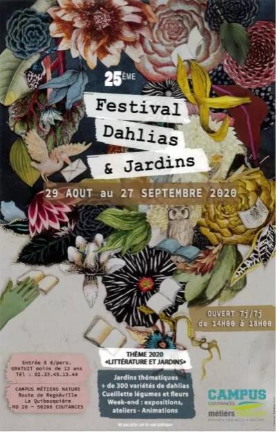 25E ÉDITION DU FESTIVAL DAHLIAS ET JARDINS À COUTANCES