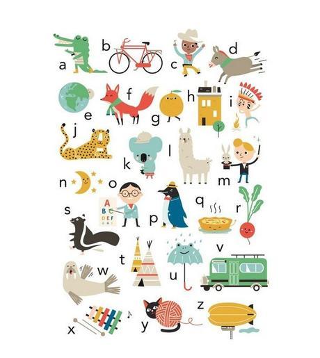 Affiche alphabet (50x70 cm) Studio Makii vers.uk