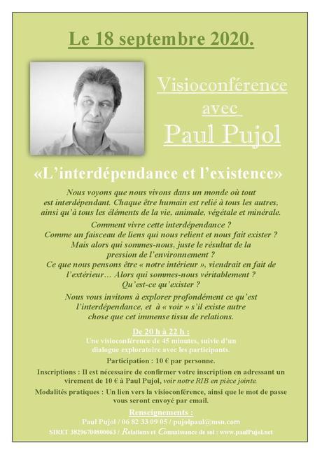 Visioconférence de Paul PUJOL le 18 septembre 2020