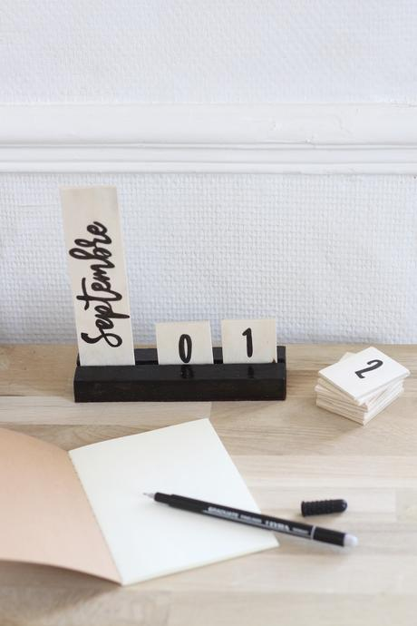 calendrier perpétuel bois diy - blog création déco - clem around the corner