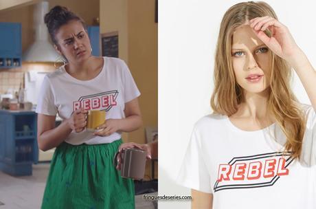 """DEMAIN NOUS APPARTIENT : le t-shirt """"Rebel"""" de Noor dans l'épisode 742"""
