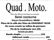 Rando semi nocturne Quad-moto l'association Quad Nature Chavenat (16), septembre 2020