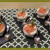 Verrines de Concombre à la crème et Saumon - Oh, la gourmande..