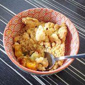 Crumble mangue rhubarbe - Cam & Drey bricolent...