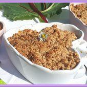 Crumble mangue et rhubarbe - Oh, la gourmande..