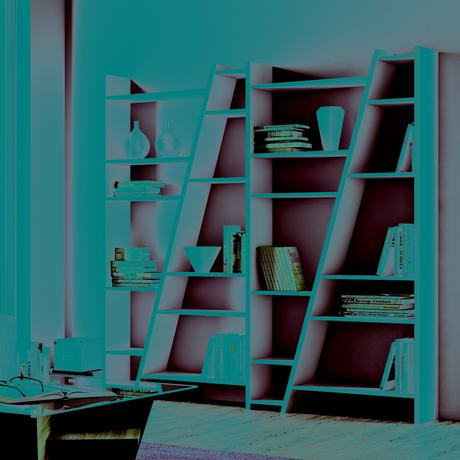 bibliothèque originale bois blanc déco intérieure parquet en bois