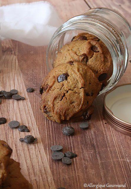 Cookies aux pepites de chocolat { sans gluten, sans lait, sans oeufs }