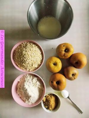 Gâteau moelleux aux pommes et aux raisins (Vegan)
