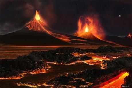 Terre primitive volcanisme