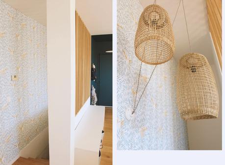 avant-après coaching deco duplex moderne marseille escaliers papier peint