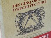 réédition Règle cinq ordres d'architecture Vignole format poche, avec introduction étude compagnons Tour France Jean-Michel Mathonière