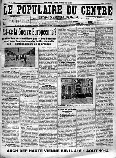 Fin d'un monde – samedi 1er août 1914 -1-
