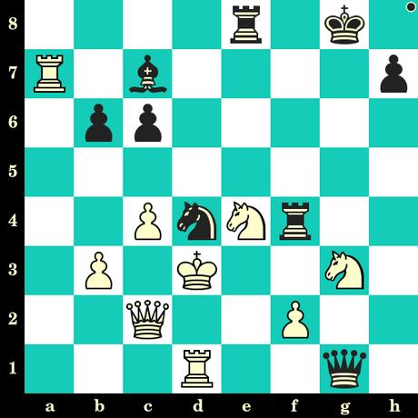 Les Noirs jouent et matent en 2 coups - Andres Aguilar vs Konstantin Kavutskiy, Gibraltar, 2019