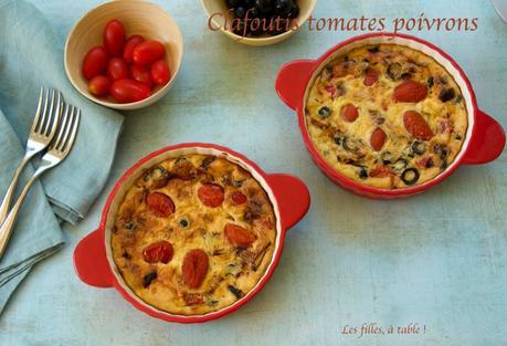 Clafoutis de tomates cerise et poivrons