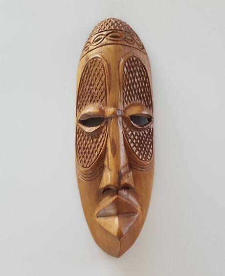 masque bois africain déco intérieure - clematc