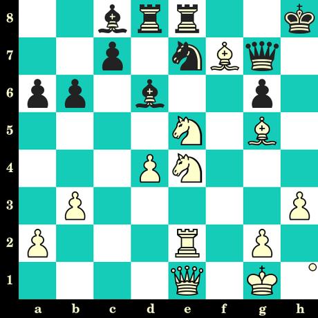 Les Blancs jouent et matent en 2 coups - Kacper Piorun vs Anna Zatonskih, Douglas, 2019