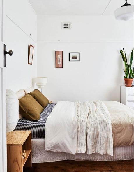 intérieur chaleureux australie chambre parentale bohème
