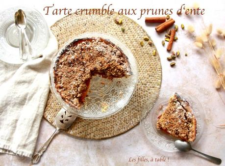 Tarte crumble aux prunes d'ente