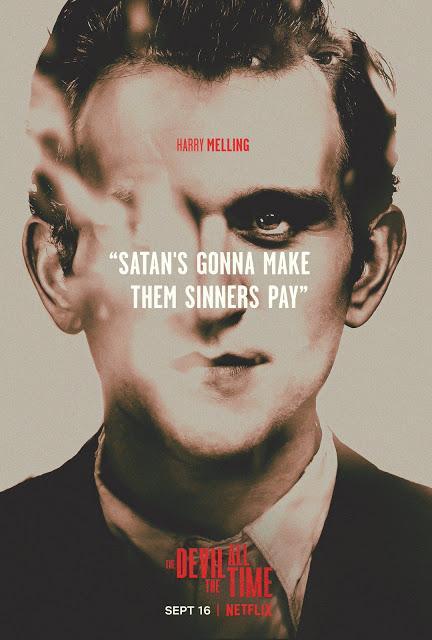 Affiches personnages US pour Le diable, tout le temps signé Antonio Campos