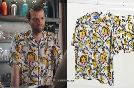 DEMAIN NOUS APPARTIENT : la chemise bananes de Tristan dans l'épisode 754
