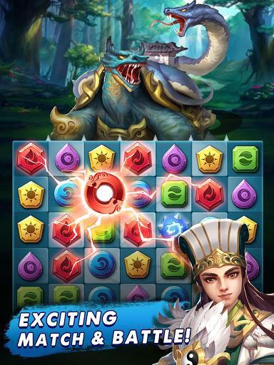 Code Triche Three Kingdoms & Puzzles: Match 3 RPG  APK MOD (Astuce) 6