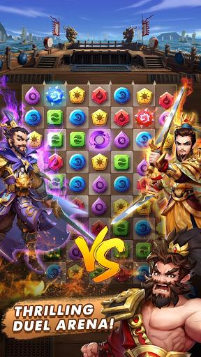 Code Triche Three Kingdoms & Puzzles: Match 3 RPG  APK MOD (Astuce) 3
