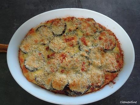 Parmigiana bianca - Aubergines au gratin