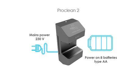 Edbak Proclean : des distributeurs de gel hydroalcoolique sur piles et sur secteur