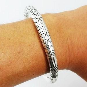 bracelet torque argent personnalisé pour homme
