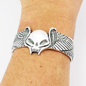 bracelet de motard tête de mort personnalisé