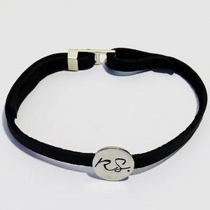 vu bracelet en cuir noir et or blanc 18 carats pour homme
