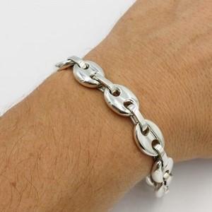 bracelet large pour homme personnalisé en argent