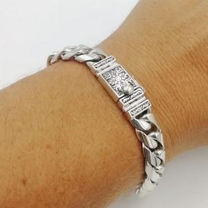 bracelet gourmette masculin avec fermoir argent personnalisé