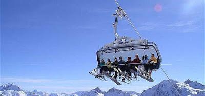 Distanciation sociale à ski