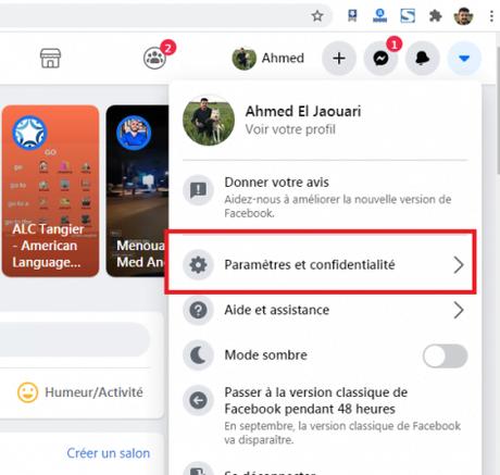 Fermer une session Facebook à distance