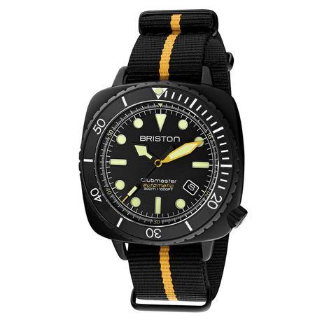Briston - Clubmaster Diver Pro Acetate - HMS Automatique - NATO rayé Jaune - 650€
